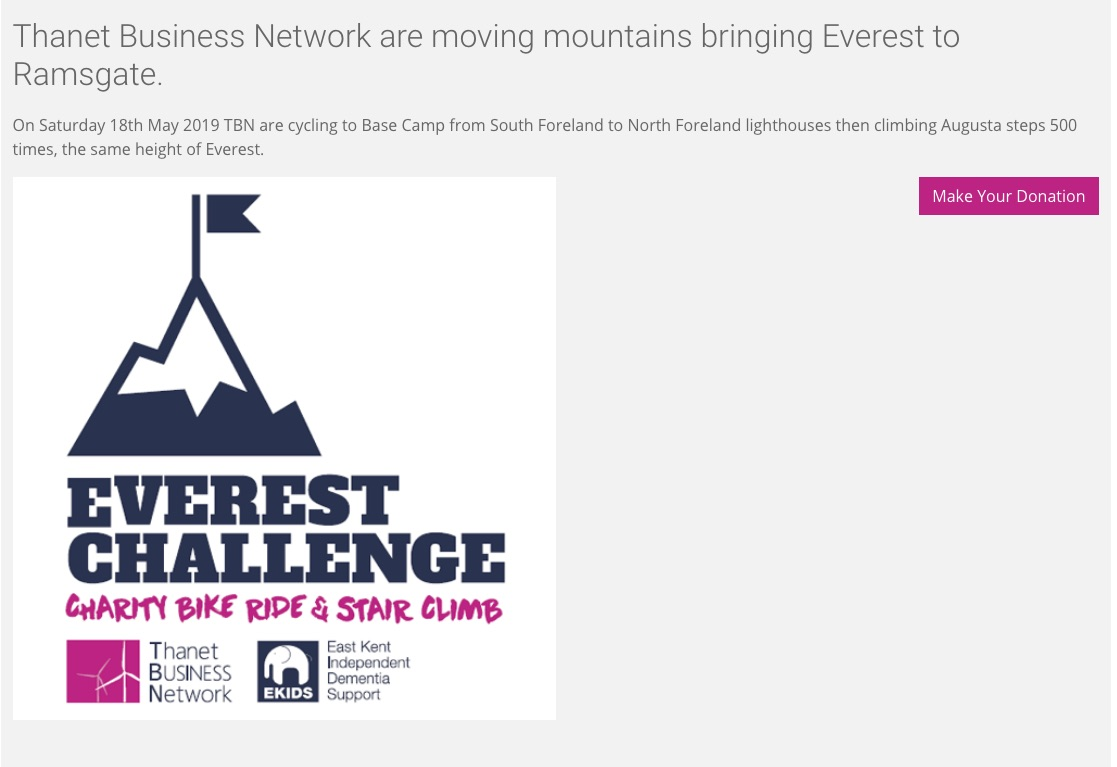 Thanet Business Network are moving mountains for EKIDS!
