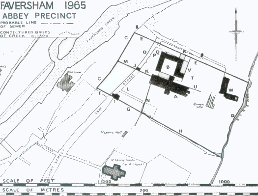 Plan of Faversham Abbey