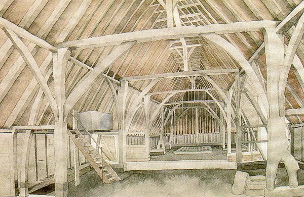 Abbey Minor Barn - inside