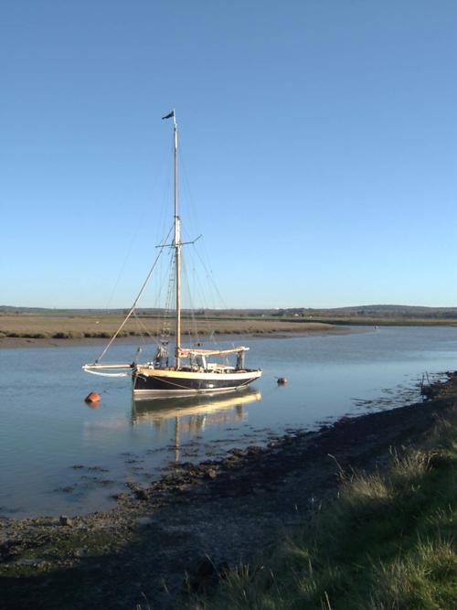 At anchor in Faversham Creek
