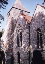 Lynsted Church across the meadow