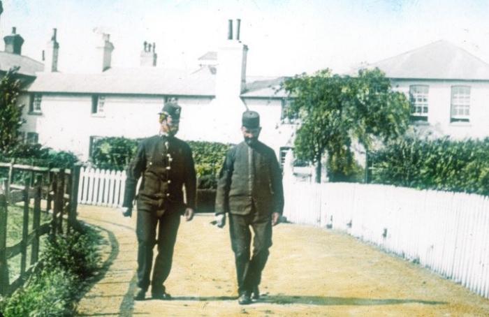 Policemen on Patrol c1905