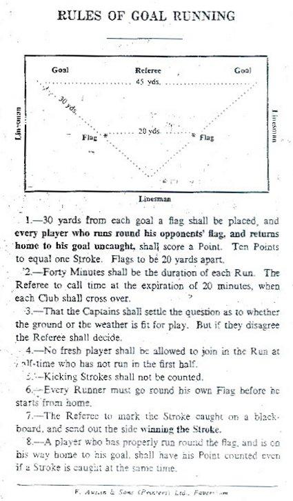 Rules of Goal Running
