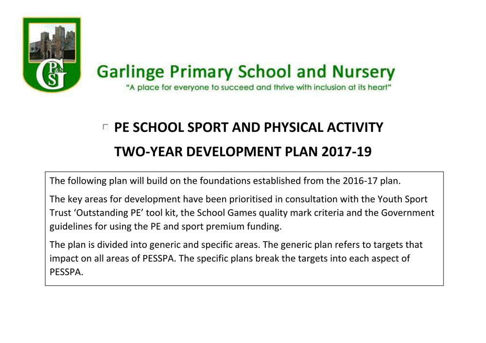 PE Development Plan 1