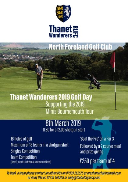 Image for the Thanet Wanderers Golf Day news article