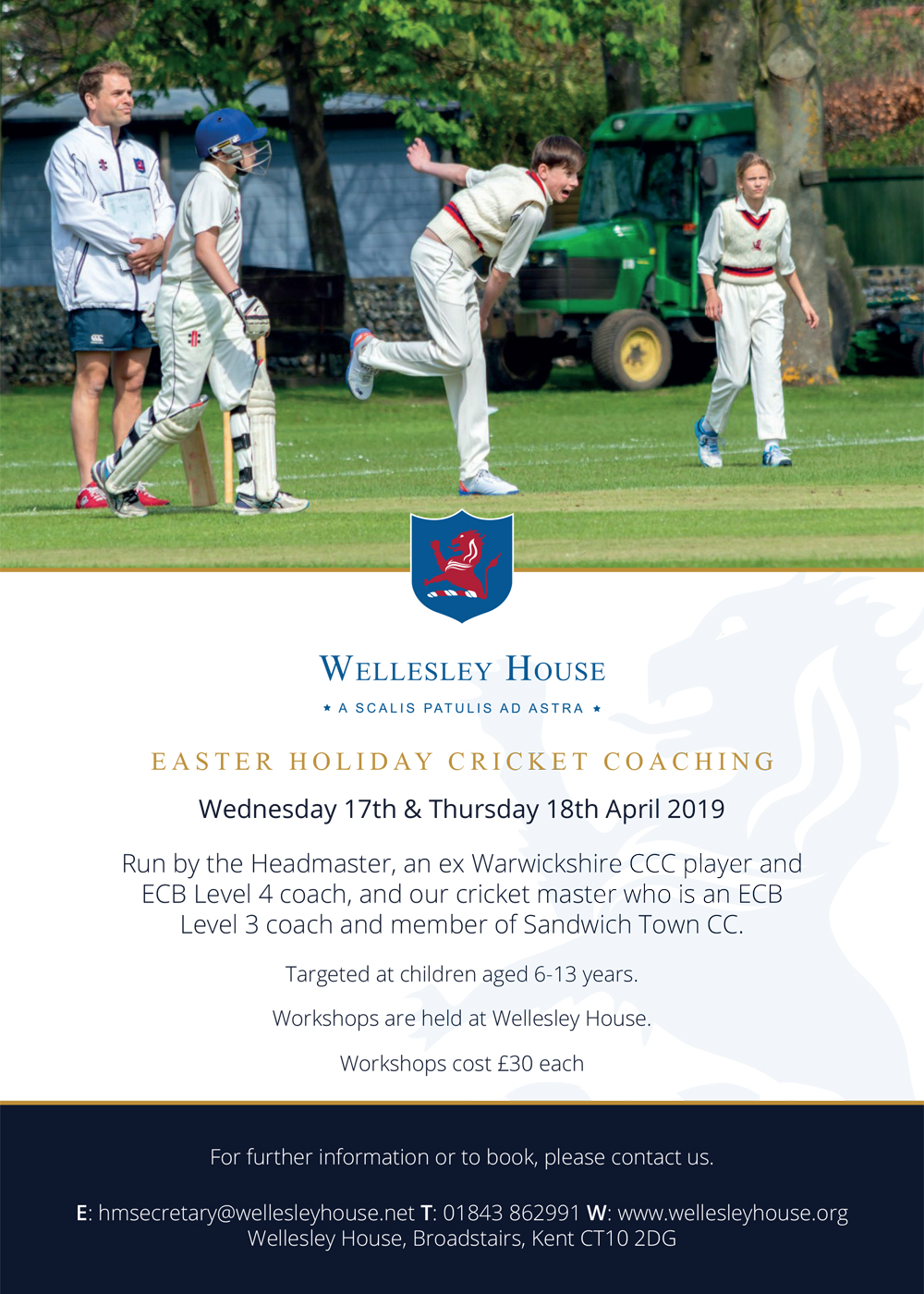 Image for the Easter Holiday Cricket Coaching news article