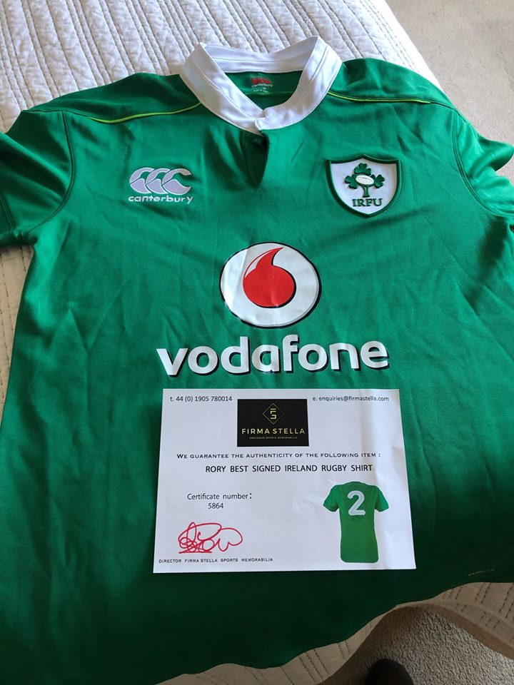 Image for the RORY BEST SHIRT. GREAT OPPORTUNITY FOR IRELAND FANS news article
