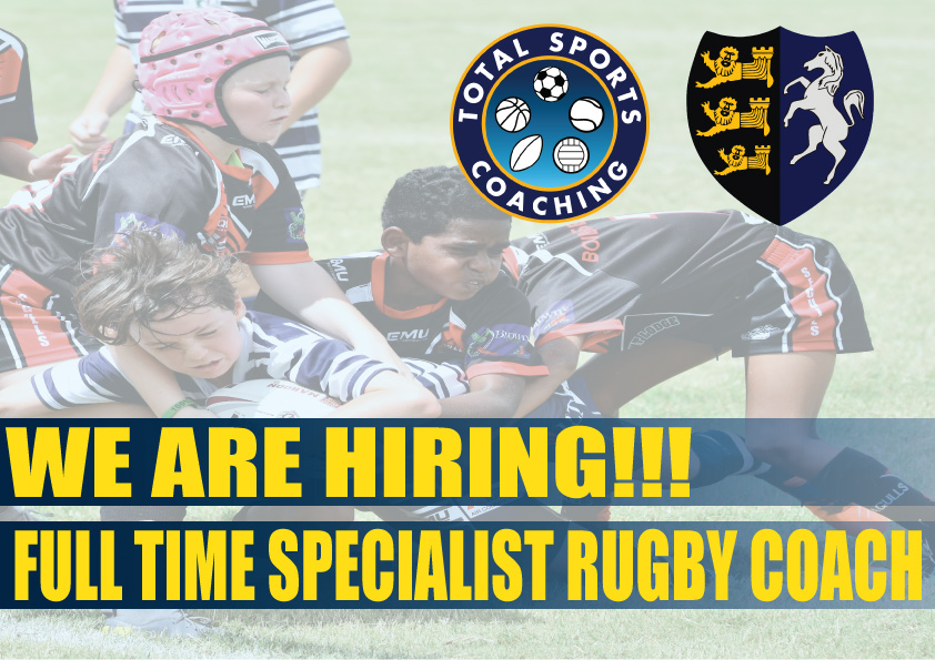 Image for the SPECIALIST RUGBY COACH JOB ADVERT news article