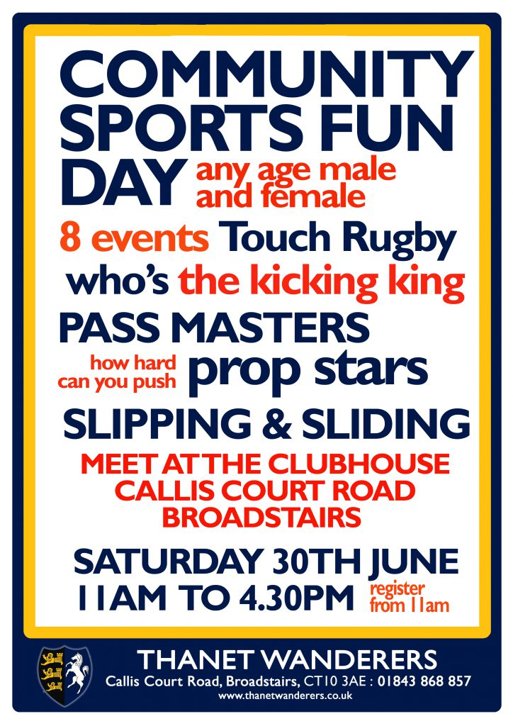 Image associated with Community Sports Fun Day at Thanet Wanderers RUFC